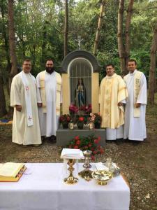 Požehnanie kaplnky - Lackovce